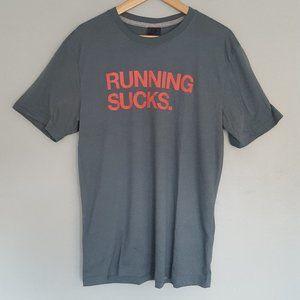 "Nike Track & Field ""Running Sucks"" Tee Men's Large"